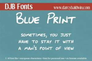 Djbfonts Blueprint3