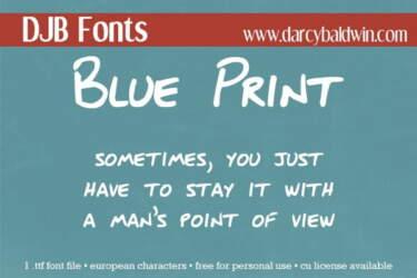 Djbfonts Blueprint3