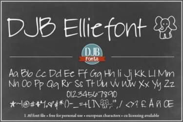 Djbfonts Elliephont3a