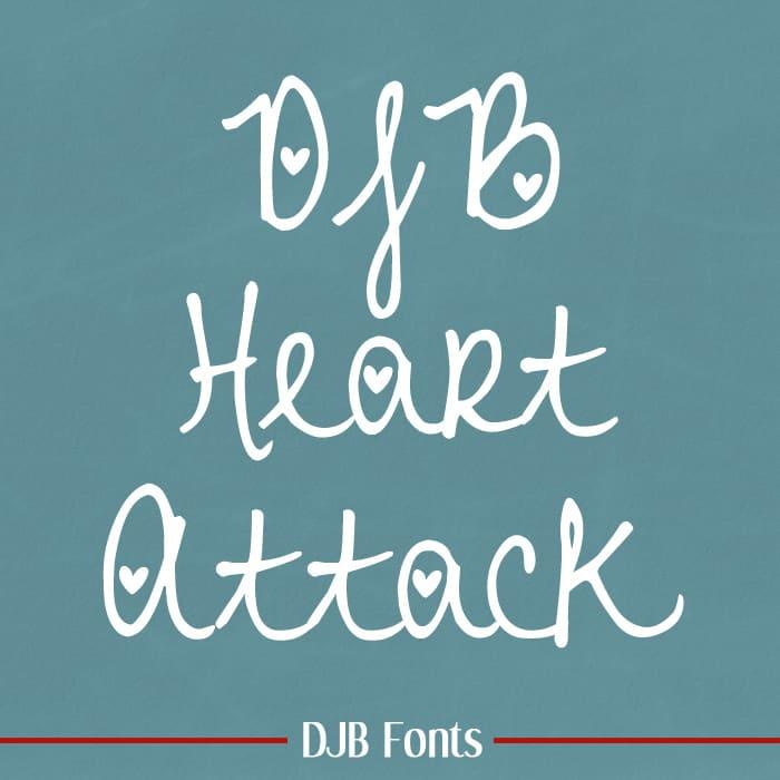 Djbfonts Heartattack