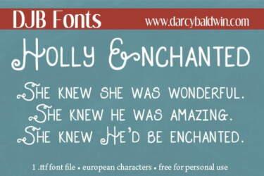 Djbfonts Hollyenchanted3