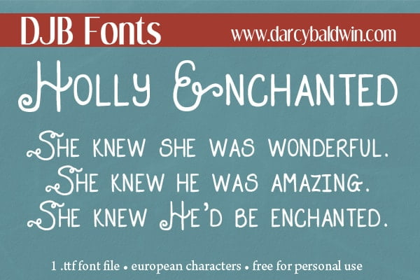 Djbfonts Hollyenchanted3
