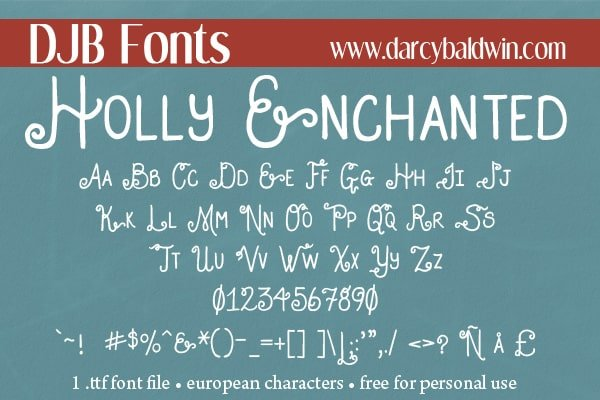 Djbfonts Hollyenchanted4