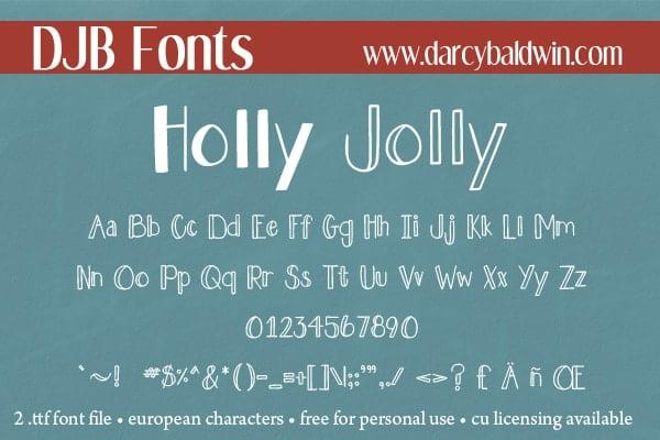 Djbfonts Hollyjolly3