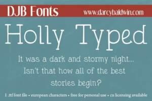 Djbfonts Hollytyped2