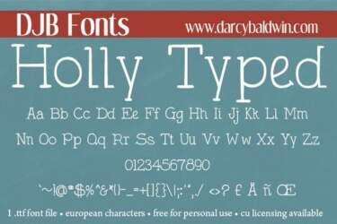 Djbfonts Hollytyped3