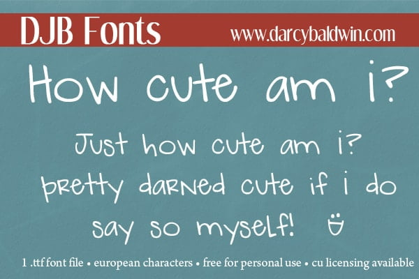 Djbfonts Howcute2