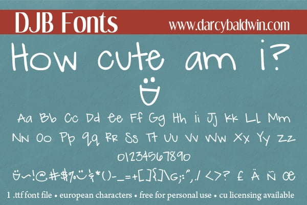 Djbfonts Howcute3