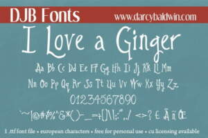 Djbfonts Ginger6