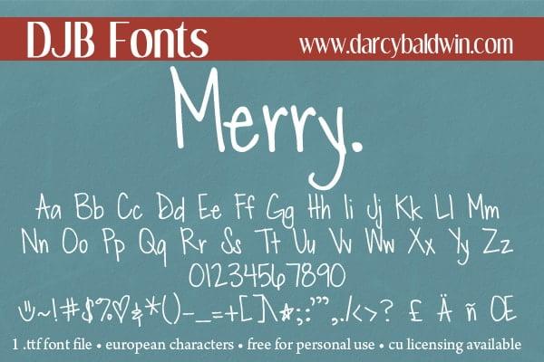 Djbfonts Merry2