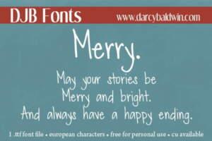 Djbfonts Merry3