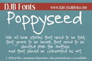 Djbfonts Poppyseed2
