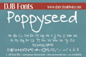 Djbfonts Poppyseed3