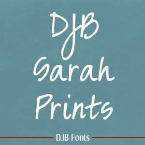 Djbfonts Sarahprints