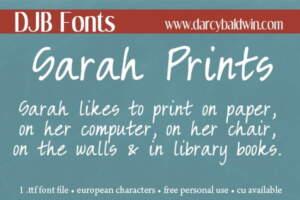 Djbfonts Sarahprints2
