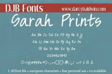 Djbfonts Sarahprints3