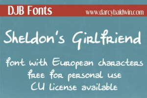 Djbfonts Sheldonsgirlfriend3