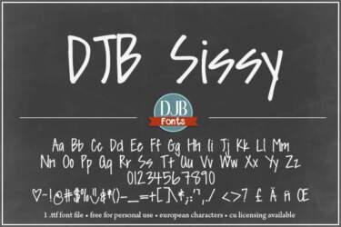 Djbfonts Sissy3a