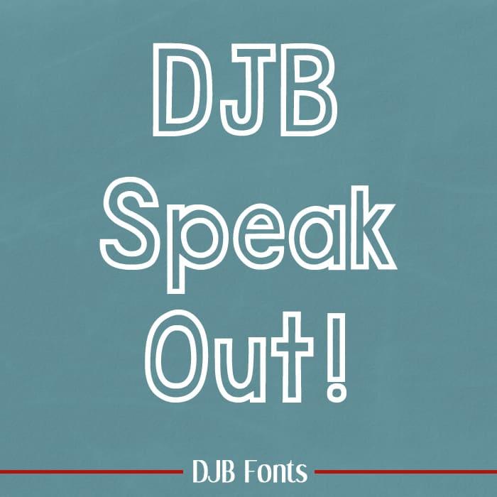 Djbfonts Speakout