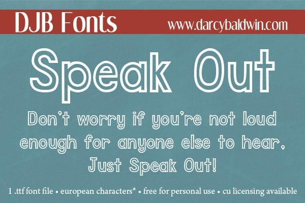 Djbfonts Speakout2