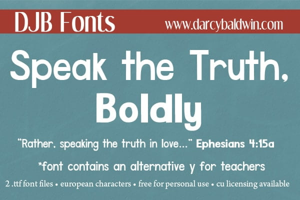 Djbfonts Speaktruth5