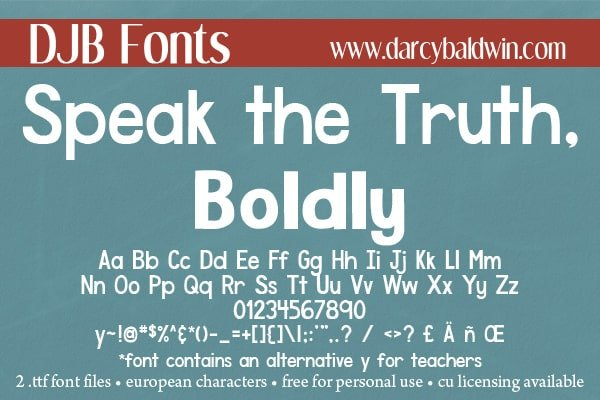 Djbfonts Speaktruth6