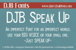 Djbfonts Speak Up 2
