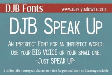 Djbfonts Speak Up 2