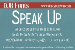 Djbfonts Speak Up 3