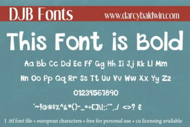 Djb this font is bold