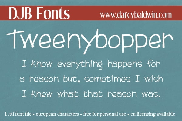 Djbfonts Tweenybopper2