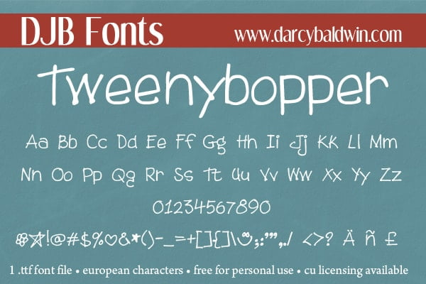 Djbfonts Tweenybopper3