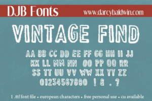 Djbfonts Vintagefind3