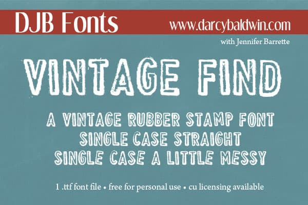Djbfonts Vintagefind6
