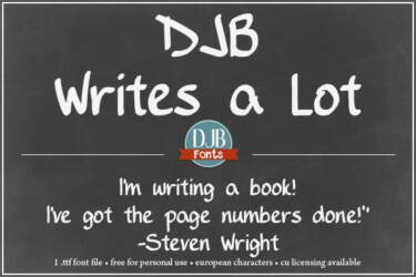 Djbfonts Writesalot2