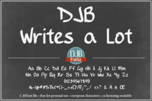 Djbfonts Writesalot3