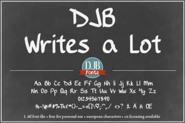 Djbfonts Writesalot3