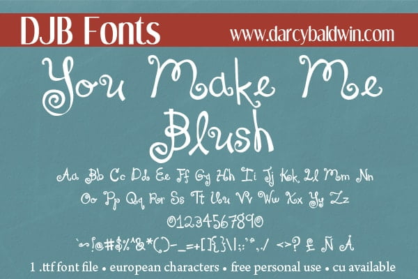 Djbfonts Youmakemeblush3