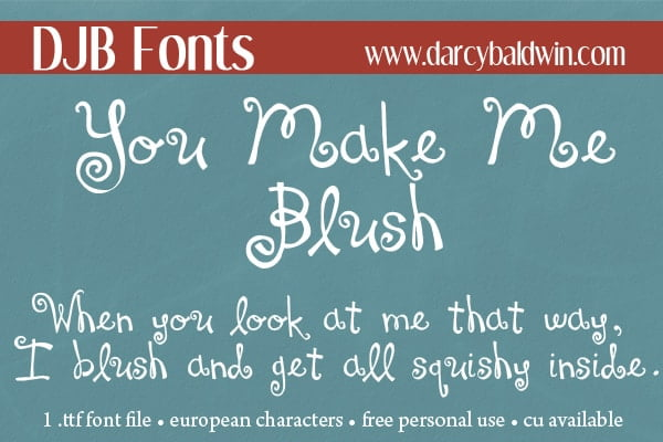 Djbfonts Youmakemeblush4