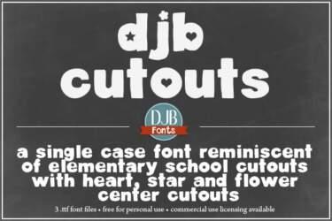 Djbfonts Cutouts1