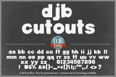 Djbfonts Cutouts2