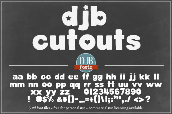 Djbfonts Cutouts2