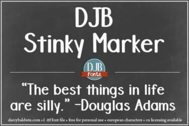 Djbfonts Stinkymarker 2