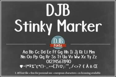 Djbfonts Stinkymarker 3