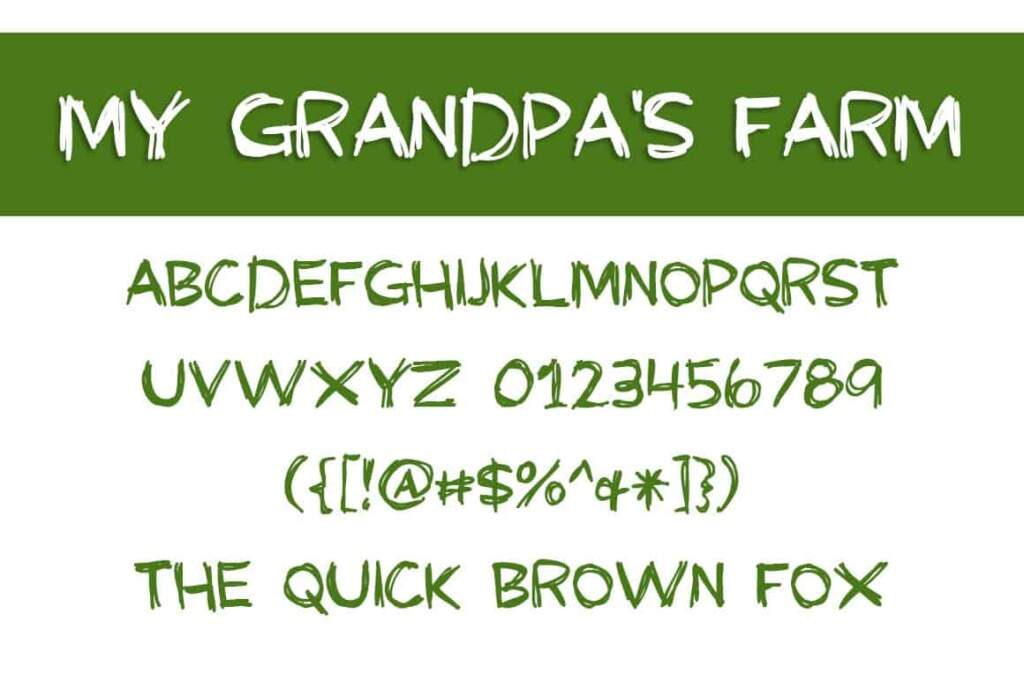 My Grandpas Farm Letters