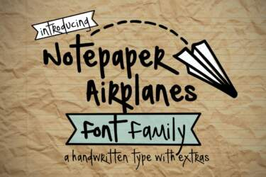 Notepaper Airplanes Font Family