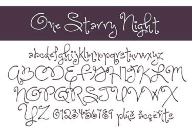 One Starry Night Letters