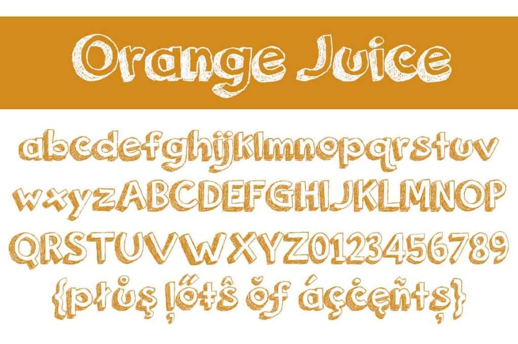 Orange Juice Letters