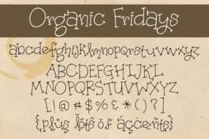 Organic Fridays Letters