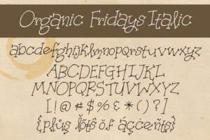Organic Fridays Letters Italic